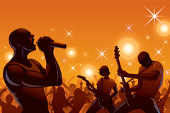 A rock band performing in concert Royalty Free Stock Photo
