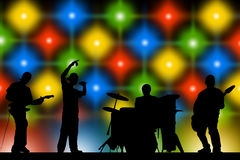 Rock band. Performing on stage Stock Image