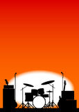 Rock Band Poster Royalty Free Stock Photo