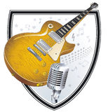 Rock-Band Sign. Music instrument Stock Photography