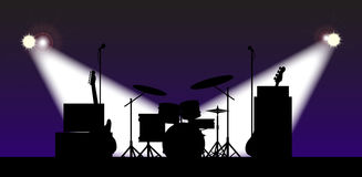 Rock Band Stage Equipment  Stock Image