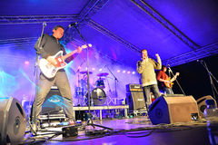 Rock band on stage Royalty Free Stock Image