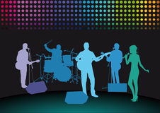 Rock band on stage  Royalty Free Stock Photography