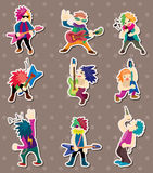 Rock band stickers Stock Photos