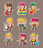 Rock band stickers stock illustration