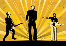 Rock Band Sunburst Royalty Free Stock Image