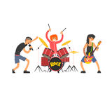 Rock Band Vector Illustration Stock Photography