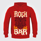 Rock Bar - Vector hoodie print design Royalty Free Stock Photo