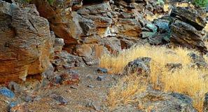 Rock Base. The base of Maston Rocks - near Tumalo, OR Royalty Free Stock Images