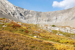 Rock basin in fall Stock Photo