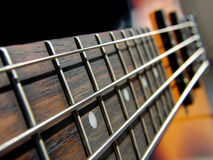 Rock Bass Guitar. Macro pic Royalty Free Stock Photos