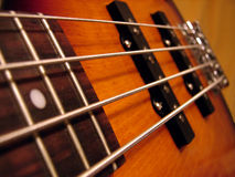 Rock Bass Guitar. Macro pic Royalty Free Stock Photography