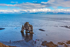 Rock in the Bay of Huna as prehistoric monster Royalty Free Stock Image