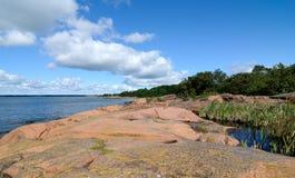 Rock beach Stock Image