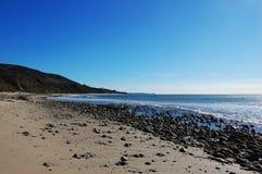 Rock Beach in Malibu, California, USA Royalty Free Stock Images