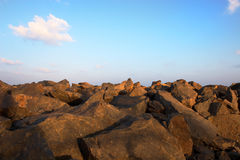 Rock beach Royalty Free Stock Photography