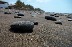 Rock on the beach. A close up of a stone on a beach in el salvador royalty free stock images