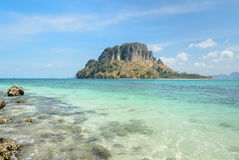 Rock beach and andaman sea in Thailand Stock Images