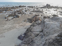 Rock Beach. Beautiful Rock Beach, sea, sand Stock Photo