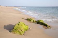 Rock on Beach at Canos de Meca, Cadiz Royalty Free Stock Images