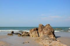 Rock on the beach. Hua-hin beach in Thailand Stock Photos