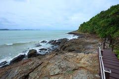 Rock beach of khao laem ya sea national park in rayong province Royalty Free Stock Photos