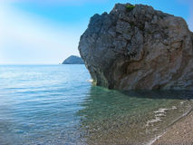 Rock on the  beach Letojanni Sicilia Italy Royalty Free Stock Image