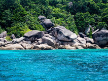 Rock beach. Multiple rocks and the place for snorkelling Royalty Free Stock Photography