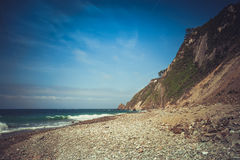 Rock beach in Northern Spain. Royalty Free Stock Photos
