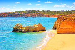 Rock Beach Praia da Rocha in Portimao. Algarve. Portugal Royalty Free Stock Image