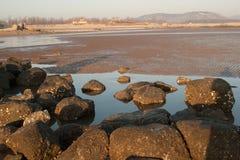 Rock beach of Qingdao Stock Image