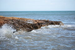 Rock beach in Santa Pola Royalty Free Stock Photo