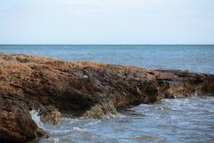 Rock beach in Santa Pola Royalty Free Stock Image