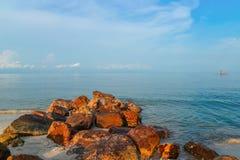 Rock beach Royalty Free Stock Photo