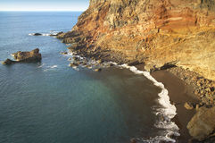 Rock beach at sinset in La Palma. Spain Royalty Free Stock Photos