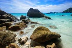 Rock beach, Tachai island, Thailand Royalty Free Stock Photos