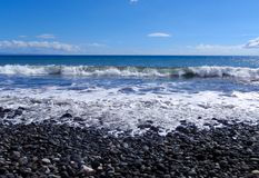 Rock beach on tropical Maui, Hawaii Royalty Free Stock Image