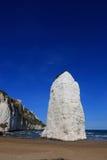 Rock on the beach, Vieste, Gargano, Puglia, Italy. Pizzomunno, rock on the beach, Vieste, Gargano, Puglia, Italy Royalty Free Stock Image