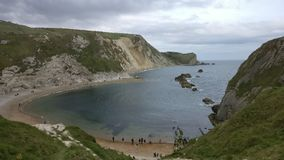 Dundle Door Beach Rock. Rock beach view see side nature Sunday turist atraction Royalty Free Stock Image