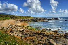 Rock beach in Vila Praia de Ancora Royalty Free Stock Photos