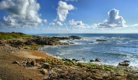 Rock beach in Vila Praia de Ancora Royalty Free Stock Images