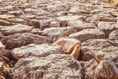 Rock on the beack close up texture nature background idea. Rock royalty free stock photography