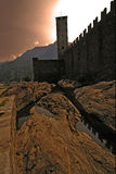 In the rock of bellinzona switzerlan Stock Photos