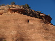 Rock Bellybutton. A seeming belly button shows up in a rock formation in the Colorado National Monument Stock Photos