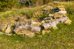 Rock bench Stock Photo
