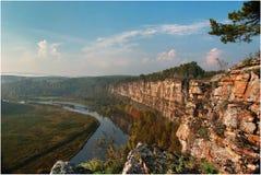 The Rock Big Lemonovsky Crest. Russia, South Ural, The River Yuruzan, The Rock Big Lemonovsky Crest Royalty Free Stock Photography