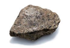 Rock. A big rock on a white background Stock Photos