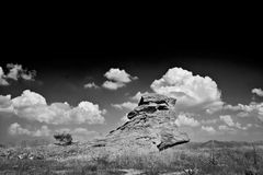 Rock in black and white Royalty Free Stock Photo