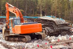 Rock blasting site royalty free stock photography