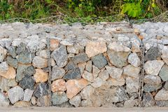 Rock blocks prevent landslides Stock Image